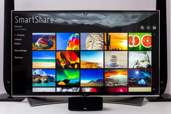Smart Share на телевизорах LG