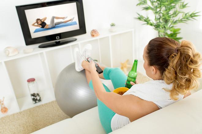 Телевизор, еда, похудение