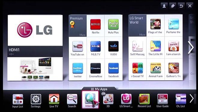 Приложения для LG Смарт-ТВ
