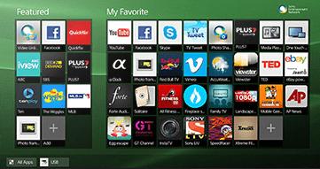 Вид меню Smart-телевизоров Sony без ОС Android