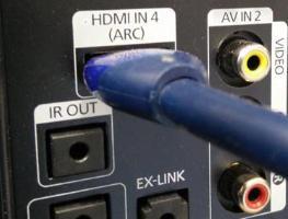 Использование технологии HDMI ARC в телевизоре
