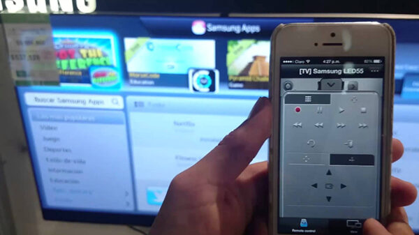 iPhone с телевизором Samsung