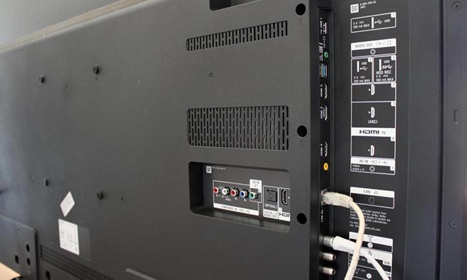 Панель телевизора с разъемами