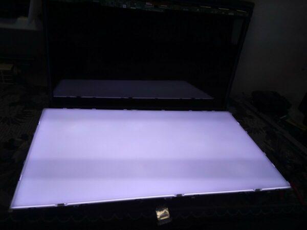 Установка светорассеивающей пластины